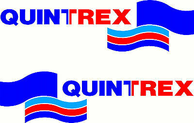 AU20 • Buy Quintrex, 3 Colour, Fishing, Boat, Small Mirrored Sticker Decal Set Of 2