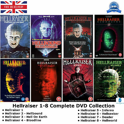 Hellraiser Series 1 - 8 Complete Collection 1 2 3 4 5 6 7 8 NEW SEALED UK R2 DVD • 179.99£