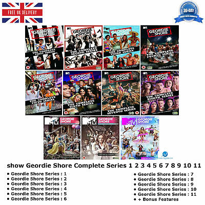 £149.99 • Buy Geordie Shore Series 1-11 MTV-aired Reality TV Show 1 2 3 4 5 6 7 8 9 10 11 DVD
