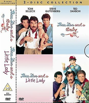 Three Men And A Baby - Three Men And A Little Lady Tom Selleck New Region 2 DVD • 19.99£
