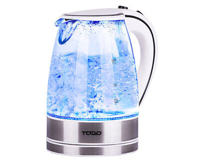 AU39.95 • Buy TODO 1.7L Glass Cordless Kettle 2200W Blue Led Light Electric Water Jug White
