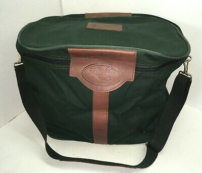 $ CDN190.31 • Buy JW Hulme Green Canvas Brown Leather Carry All Travel Bag W Strap Made In USA
