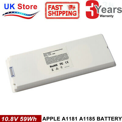 £17.99 • Buy Battery A1185 For Apple MacBook 13  Late 2006 2007 2008 2009 A1181 White 59Wh