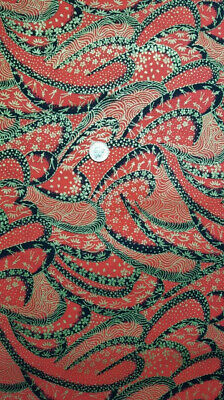 Japanese 100% Cotton Fabric FQ - Nami (Waves), Red • 3.99£