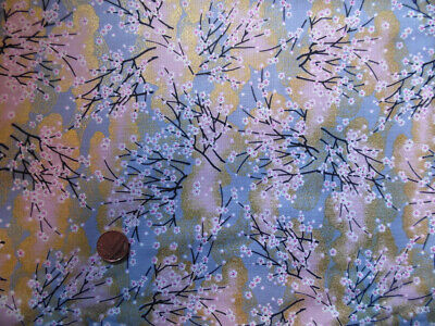 Japanese 100% Cotton Fabric FQ - Tiny Blossoms, Lilac • 3.99£