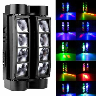 Spider Moving Head Stage Lighting Beam DMX Disco Party DJ Light 80W RGBW 8 LEDs • 46.79$