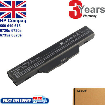 £12.99 • Buy For HP Compaq 610 615 550 6720s 6730s 6735s 6820s Battery 491278-001 HSTNN-IB51