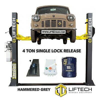 2 Post Lift Single Point Safety Lock Release Car Vehicle Ramp/hoist 4ton Tonne • 1,330£