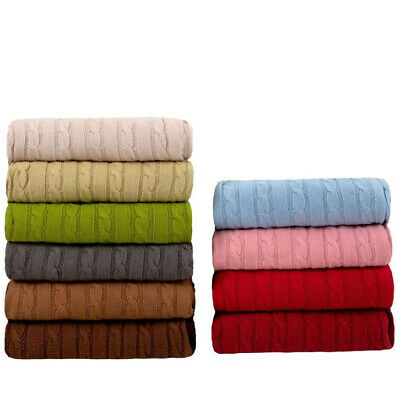 £19.99 • Buy New Soft Snugly Cable Knitted Throw Blanket For Beds Sofa Armchair 120x180cm