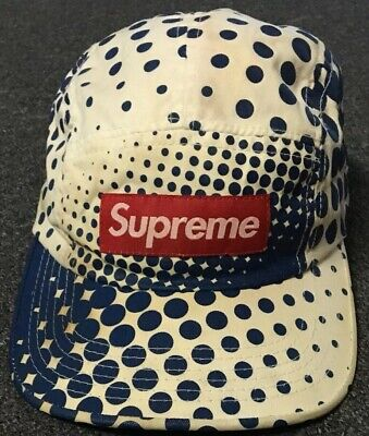 $ CDN167.53 • Buy Supreme Dots 5 Panel Cap Hat Blue F Cking Awesome DQM Vtg 90s