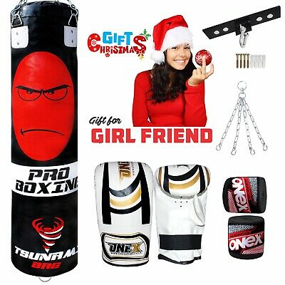 AU117.86 • Buy 5Ft Boxing Punch Bag Filled Martial Arts Gym Training Heavy Fitness Gift Set