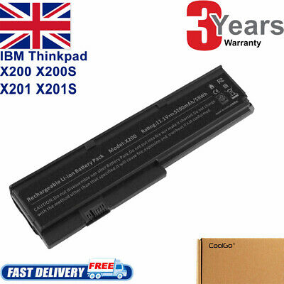 Laptop Battery For Lenovo 43R9255 IBM ThinkPad X200 X201 Notebook 6 Cell • 10.50£