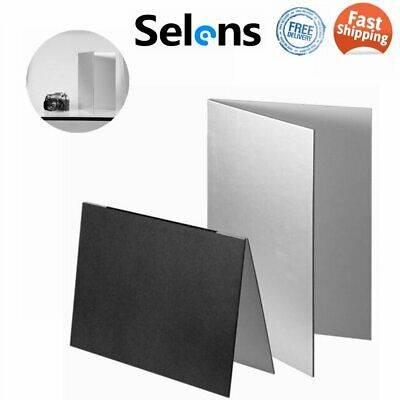 £13.97 • Buy Selens 3in1 Photo Collapsible Flash Light Reflector Photography Studio 29.5x21cm