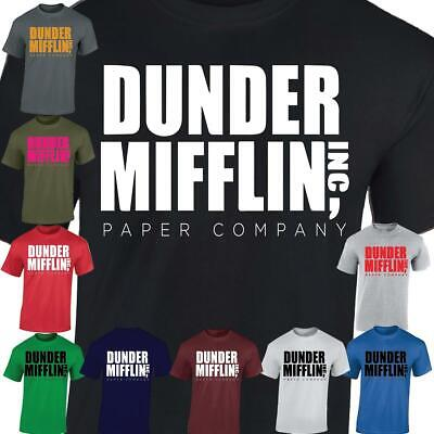 Dunder Mifflin Funny Movie Comedy Series Inspired The Office Unisex Tshirt • 6.99£