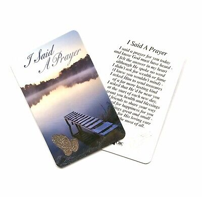 I SAID A PRAYER FOR YOU TODAY Prayer Card - Credit Card Size • 1.65£
