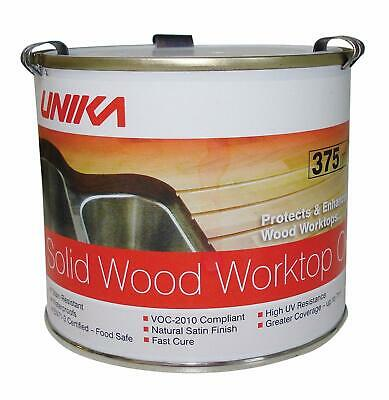 Unika Solid Wood Worktop Oil Or Mousse Fast Cure Stain Resistant Seal BRAND NEW • 17.58£