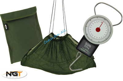 £11.95 • Buy Deluxe Fishing Weighing Sling With Bag & 50lb Scales Carp Coarse Fishing Tackle