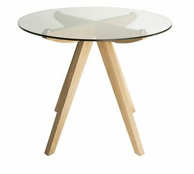 AU279 • Buy Amber Collection | Round Glass Dining Table | 90cm