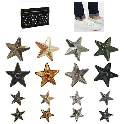 50/100Sets Star Spike Rivets Studs Spots For DIY Leather Craft Clothes Shoes Bag • 3.69£