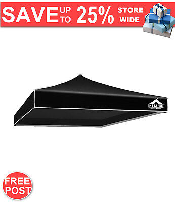 AU41.72 • Buy Instahut Gazebo 3x3m Pop Up Marquee Replacement Roof Outdoor Wedding Tent Black