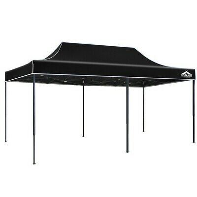AU65.95 • Buy Instahut Gazebo 3x6m Pop Up Marquee Replacement Roof Outdoor Wedding Tent Black