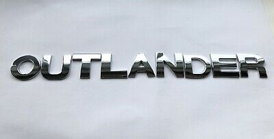 £10.75 • Buy QUALITY FULL METAL 25MM Chrome 3D Self-adhesive LETTERS Word Spelling OUTLANDER