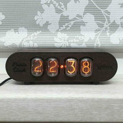 Nixie Tube Clock IN12 RetroVintage Clock Solid Wood Case ASH Lamp Wooden Clock • 91.16£