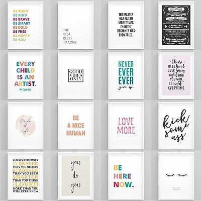 £3.49 • Buy Motivational Quotes Poster Inspirational Large Print Wall Art Home Décor Picture