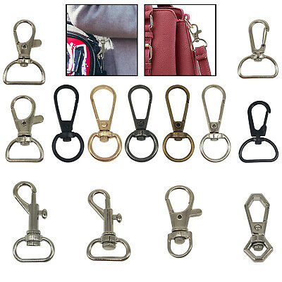 Lobster Clasps Keyring Swivel Trigger Clips Snap Hooks Bag Split Keychain Clasp • 1.99£