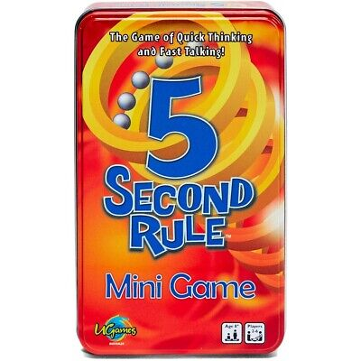 AU24 • Buy 5 Second Rule Tinned Game Board Game + FREE SHIPPING