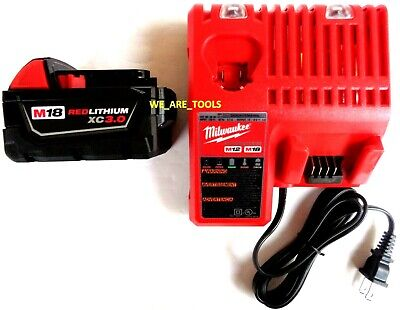 $87.97 • Buy (1) GENUINE M18 Milwaukee 48-11-1828 3.0 Battery, (1) Charger 18 Volt 48-59-1812