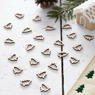 Wooden Christmas Tree Table Confetti Scatter Xmas Day Dinner Table Decoration • 3.99£