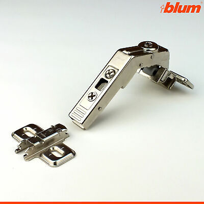 Blum 130 Deg Clip-on Concealed Lazy Susan Hinge Kitchen Cabinet Door Bi-fold • 9.99£