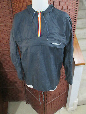 $ CDN7.80 • Buy Vintage Adidas Packable Pullover Windbreaker Jacket With Hood Adult Small