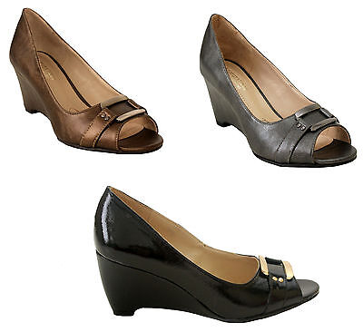 Womens Ladies Wedge Heels Open Toe Wedding Party Prom Court Shoes Size 3-7 • 8.99£