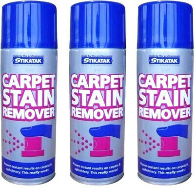 3 X Stikatak Carpet Rug Upholstery Stain Remover Instantly Removes Stains 400ml • 13.75£