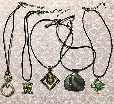 $ CDN65.91 • Buy Lia Sophia Assorted Mother Of Pearl Crystal Corded Pendant Necklaces Lot Of 5