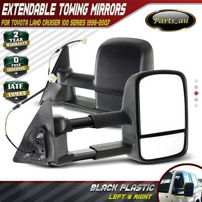 AU274.99 • Buy Black Extendable Towing Mirrors For Toyota Landcruiser 100 Series 98-07
