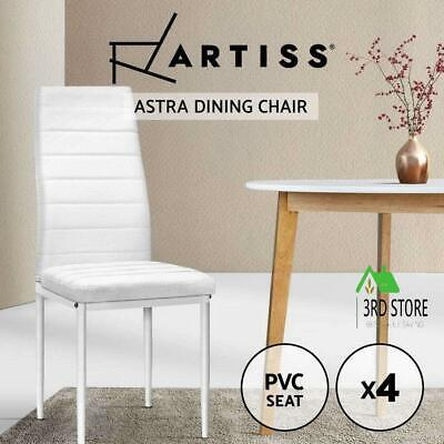 AU116.45 • Buy Artiss 4x Astra Dining Chairs Set Leather PVC Stretch Seater Chairs