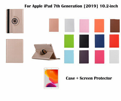 AU11.99 • Buy  For IPad 10.2  [7th Generation ](2019)Screen Film/ Rotate PU Leather Case Cover