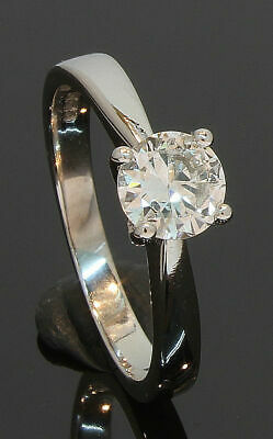18 Carat White Gold Diamond Solitaire Ring 0.50ct Size H 18CT (80.19.549) • 895£