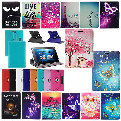 AU14.99 • Buy Case Cover For 7   Inch Tablet PC Universal PU Leather 360 Rotate Flip Stand