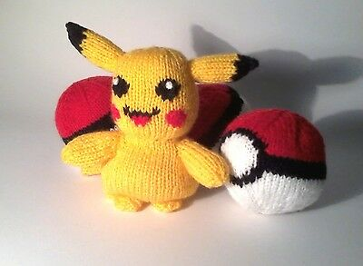 Knitting Pattern For Pokemon Go: Pikachu And Pokeball,  Child Safe  • 2.50£