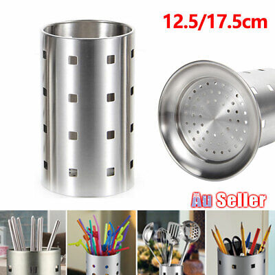 AU16.40 • Buy Home Drainer Kitchen Cutlery Stand Holder Conical Rack Utensil Stainless Steel