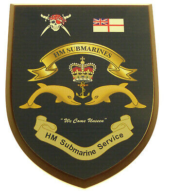 Royal Navy Submarine Service Submariner Classic Hand Made Regimental Mess Plaque • 19.99£