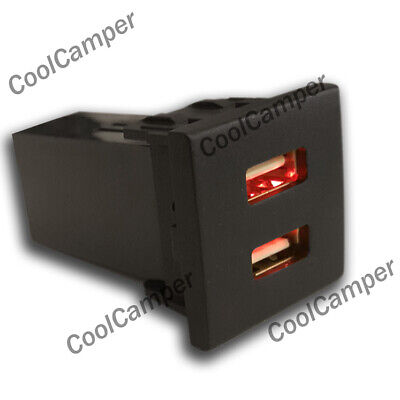 £24.99 • Buy VW T5 Transporter Dual USB Phone Charger Dash Blank Switch Eurovan Caravelle RED