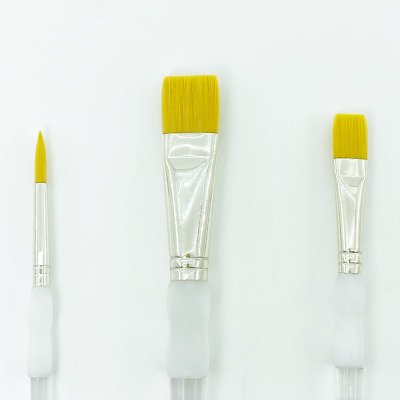 Royal & Langnickel Soft Grip Gold Taklon Paint Brushes For Watercolour & Acrylic • 3.25£