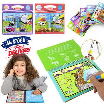 Portable Toy Magic With Pen Kids Water Coloring Drawing Book Children Painting • 4.83£