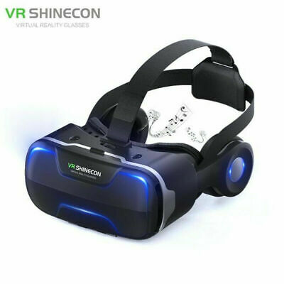 AU74.99 • Buy SHINECON VR Box 4.0 Virtual Reality Goggles Cardboard 3D Glasses With Headset