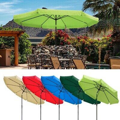 AU94.90 • Buy 3m Outdoor Patio Umbrella Market Cafe Beach Parasol Sun Shade Cover With Valance